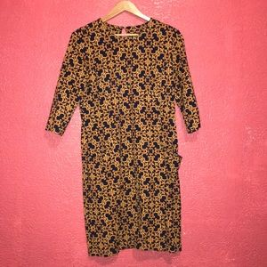 J.Mclaughlin dress print pocket royal floral gold